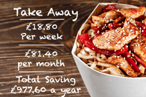 Save money on treats - take away meals