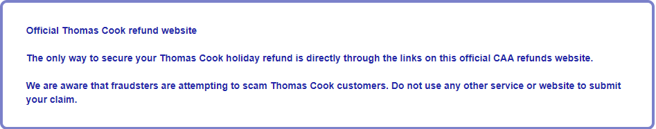 Thomas Cook Refund
