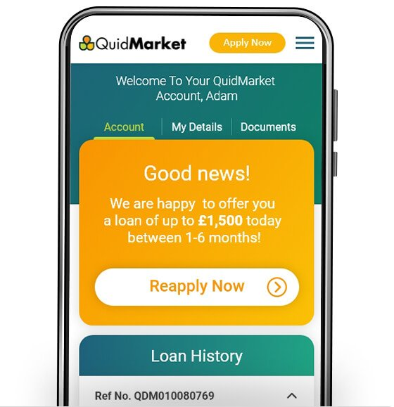 Quidmarket on mobile
