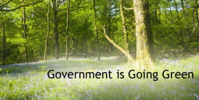 Government going green banner